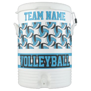Professional Business Volleyball   Baby Blue and White   DIY Text Beverage Cooler