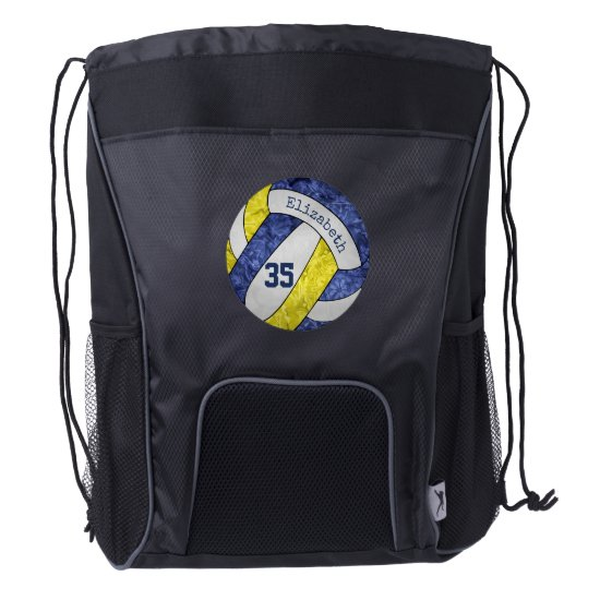 volleyball backpack w player name & jersey number
