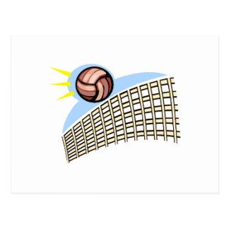 Volleyball Ball & Net Postcard
