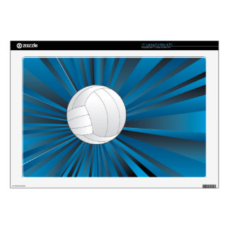 """Volleyball Ball on Rays Background Skins For 17"""" Laptops"""