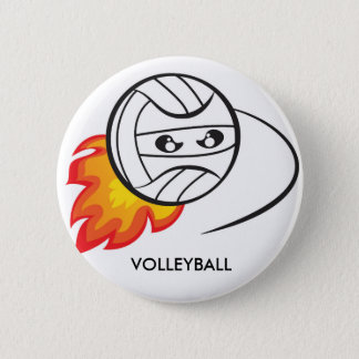 Volleyball ball pinback button