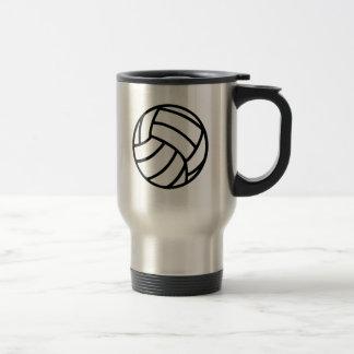 Volleyball ball travel mug