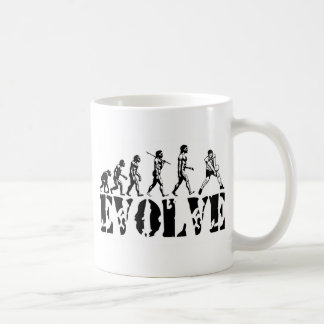Volleyball Beach Player Evolution Sport Art Coffee Mugs