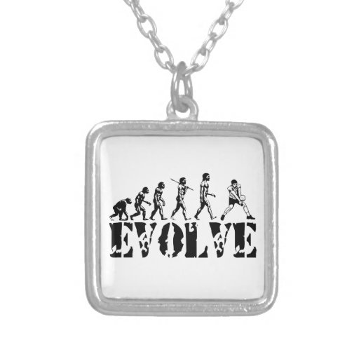 Volleyball Beach Player Evolution Sport Art Square Pendant Necklace