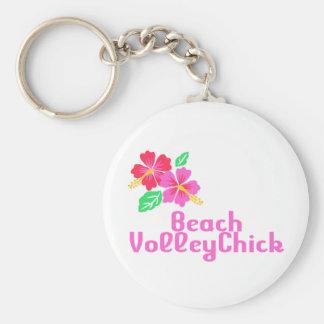 Volleyball Beach VolleyChick Keychain