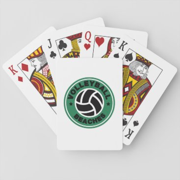 Volleyball Beaches Funny Coffee Distressed Funny Playing Cards