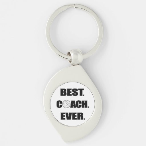 Volleyball Best Coach Ever Key Chain