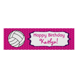 Volleyball Birthday Poster