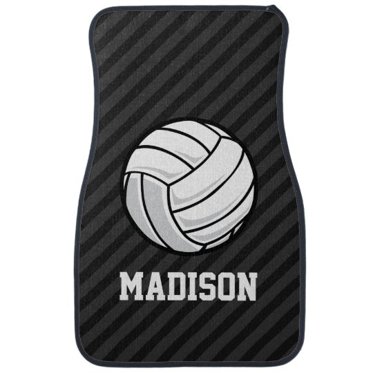 Volleyball Black Amp Dark Gray Stripes Car Mat Zazzle Com