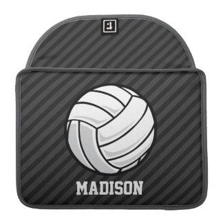Volleyball; Black & Dark Gray Stripes MacBook Pro Sleeve