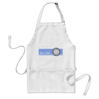 Volleyball; Blue Adult Apron
