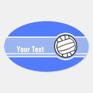 Volleyball; Blue Oval Sticker
