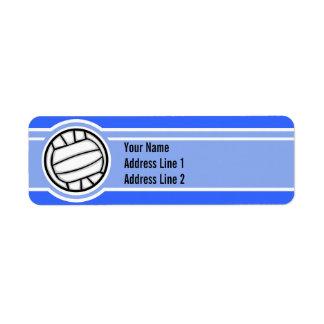 Volleyball; Blue Return Address Label