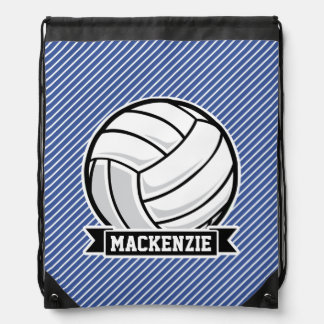 Volleyball, Blue & White Stripes, Sports Backpacks