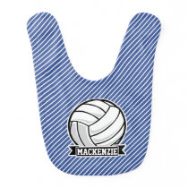 Volleyball, Blue & White Stripes, Sports Bib