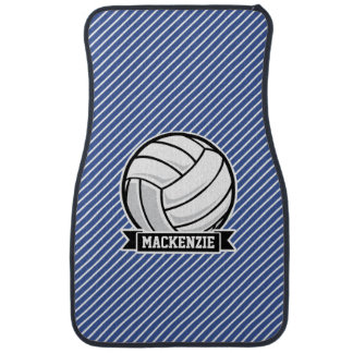 Volleyball, Blue & White Stripes, Sports Car Mat