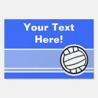 Volleyball; Blue Yard Sign