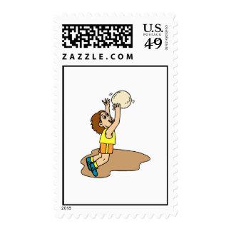 Volleyball Boy Fun Stamp