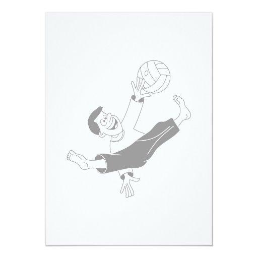 Volleyball boy gray card