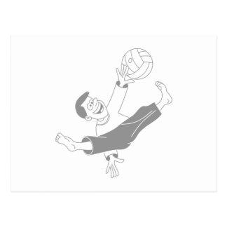 Volleyball boy gray postcard