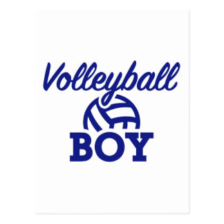 Volleyball boy postcard
