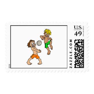 Volleyball Boys Stamp