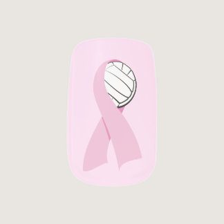 Volleyball Breast Cancer Awareness Minx Nail Wraps