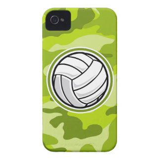 Volleyball; bright green camo, camouflage iPhone 4 case