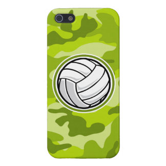 Volleyball; bright green camo, camouflage cover for iPhone 5/5S
