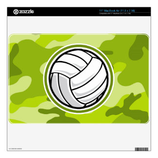 Volleyball; bright green camo, camouflage MacBook decal