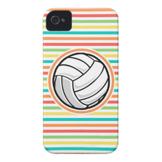 Volleyball; Bright Rainbow Stripes Case-Mate iPhone 4 Case