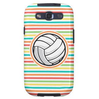 Volleyball; Bright Rainbow Stripes Galaxy S3 Case
