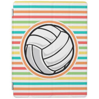 Volleyball; Bright Rainbow Stripes iPad Cover