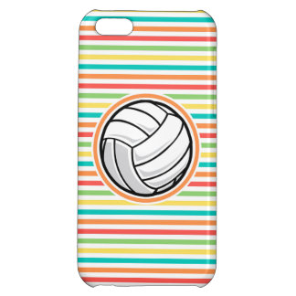 Volleyball; Bright Rainbow Stripes Case For iPhone 5C