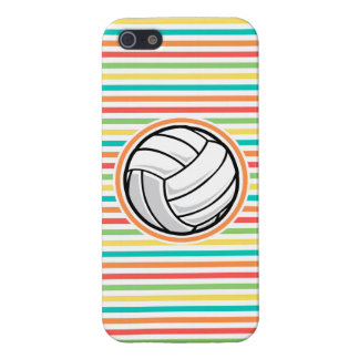 Volleyball; Bright Rainbow Stripes iPhone 5 Covers