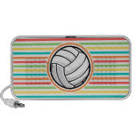 Volleyball; Bright Rainbow Stripes Travelling Speaker