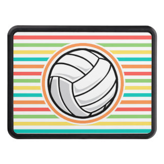 Volleyball; Bright Rainbow Stripes Tow Hitch Cover