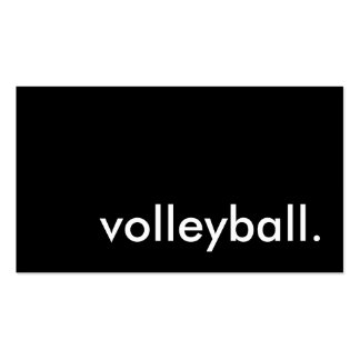 volleyball card