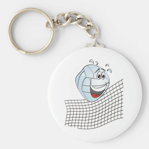 Volleyball Cartoon Key Chains