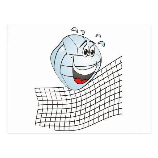Volleyball Cartoon Postcard
