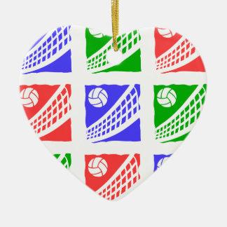 volleyball ceramic ornament