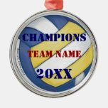 Volleyball Champions Medal Christmas Tree Ornament