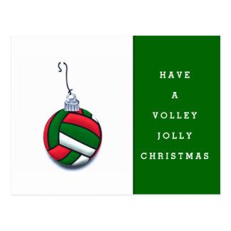 volleyball cheer postcard