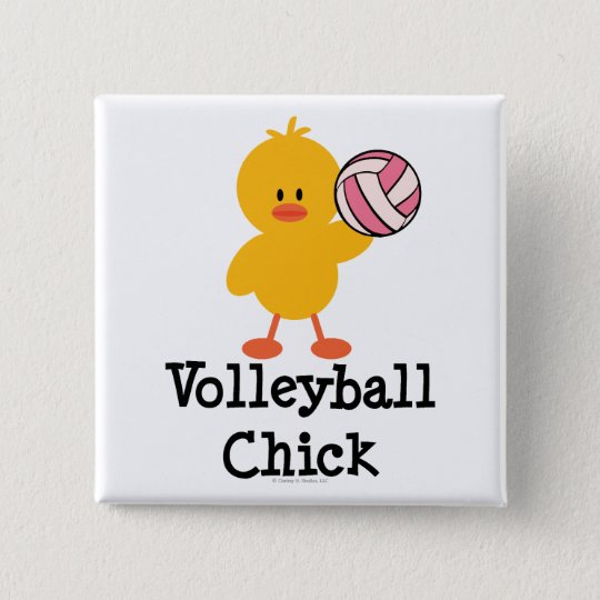 Volleyball Chick Button
