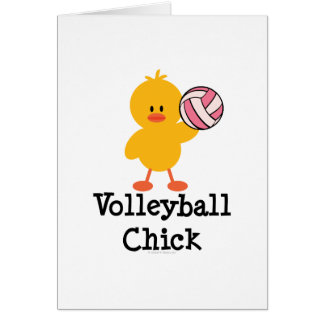 Volleyball Chick Greeting Card