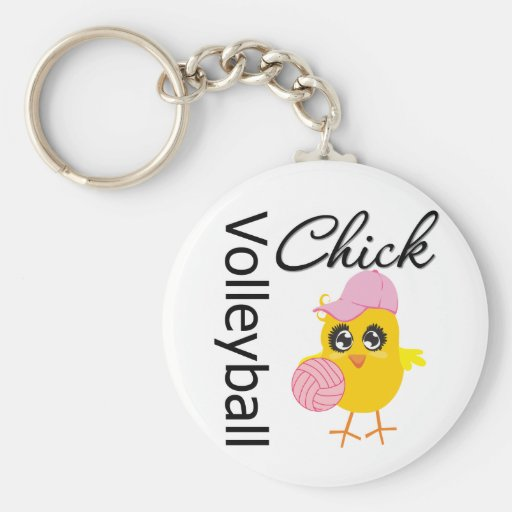 Volleyball Chick Keychains