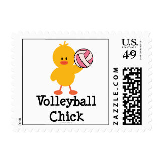 Volleyball Chick Postage Stamps