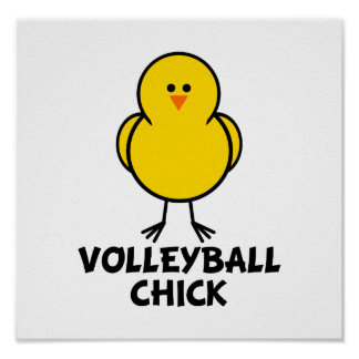 Volleyball Chick Poster