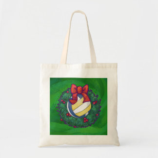 Volleyball Christmas Canvas Bags