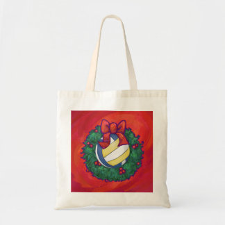 Volleyball Christmas Canvas Bag